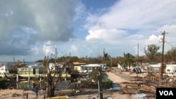 Estela de destrucción dejada por huracán Irma en Islamorada, Florida. Foto: José Pernalete, VOA.