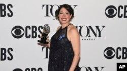 音乐剧《冥界》导演瑞秋·查夫金获得托尼奖最佳导演奖。(2017年6月9日)