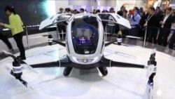 Drones como transporte público en feria de Las Vegas