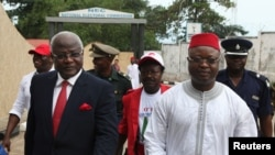 FILE - Sierra Leonean Vice President Samuel Sam-Sumana, shown in Freetown in October 2012.