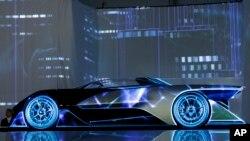 2016年1月4日展示的電動概念車。