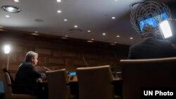 გაეროს გენერალური მდივანი და ჯანდაცვის მსოფლიო ორგანიზაციის გენერალური დირექტორი ტელეკონფერენციაზე