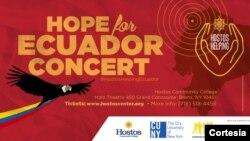 Todos los fondos recaudados en este concierto irán al fondo de ayuda del terremoto de Ecuador a través de Visión Mundial.