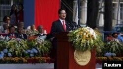 Ông Nguyễn Tấn Dũng đọc diễn văn khai mạc buổi lễ đánh dấu ngày kết thúc Chiến tranh Việt Nam ở Sài Gòn, ngày 30/4/2015.