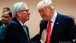 歐盟執行委員會尚克勞德容克星期三來到白宮與川普總統會面。