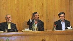 اسفندیار رحیم مشایی ، محمود احمدی نژاد و محمدرضا رحیمی معاون اول رییس جمهوری اسلامی