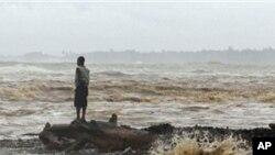 Furacão Irene à sua passagem pela República Dominicana