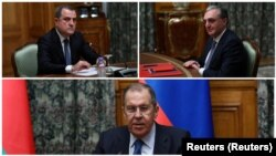 Moskova'da Cuma günü varılan ateşkes anlaşmasına iki ülkenin dışişleri bakanları katıldı