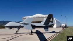 Sebuah drone milik AS tengah bersiap untuk berpatroli di Ft. Huachuca, Sierra Vista, Arizona (Foto: dok).