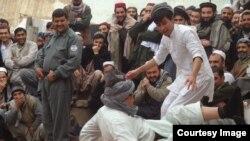عکس از کانون فرهنگی سیمرغ در زندان قندوز