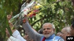 印度人民党领导人莫迪当选印度新总理(资料照片)