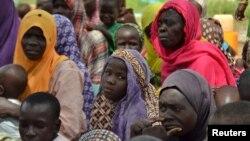 Wasu matan da 'yan Boko Haram suka kashe mazajensu