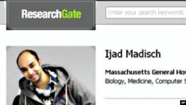 Ijad Madisch's profile on ResearchGate, the social networking website for scientists which he created.