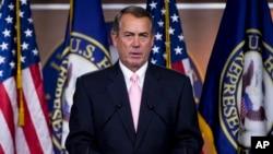 Ketua DPR AS, yang berasal dari Partai Republik, John Boehner mengeluarkan pernyataan bahwa dia kecewa terhadap keputusan Mahkamah Agung AS (foto: dok).