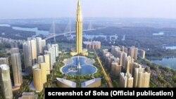 Hình ảnh đồ họa thành phố thông minh Nhật Tân-Nội Bài sẽ được xây dựng ở Hà Nội