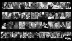 Ảnh 49 nạn nhân vụ xả súng ở Orlando ngày 12/6/2016.