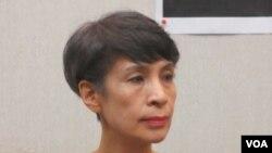 台湾公民媒体文化协会理事长冯贤贤(美国之音张永泰拍摄)