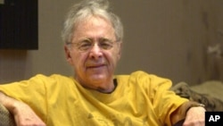 "FILE - Chuck Barris, the man behind TV's ""The Dating Game,"" died at age 87, Dec. 20, 2002. Barris, the madcap producer of ""The Gong Show"" and ""The Dating Game,"" died of natural causes at his home in Palisades, N.Y., March 21, 2017."