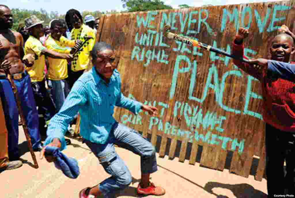 Members of AZAPO have participated in anti-government protests across South Africa in recent years. (Courtesy AZAPO)