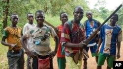 Des anti-balaka, Boubou, entre Bossangoa et Bouca.