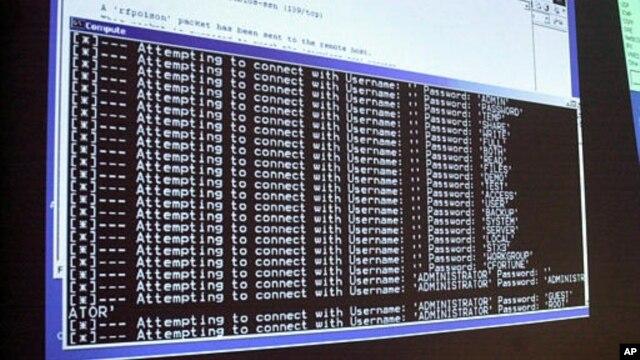 Màn hình computer cho thấy một vụ tấn công mật khẩu đang diễn tiến
