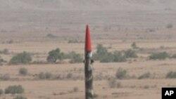 파키스탄의 미사일 시험발사 (자료사진)