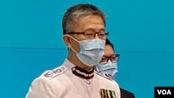 警務處副處長(行動)蕭澤頤升任警務處處長。 (美國之音湯惠芸)