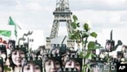 示威者在全世界抗议伊朗侵犯人权