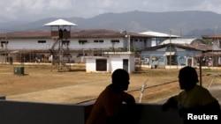 Inmates chat at La Joya prison on the outskirts of Panama City, Panama, Jan. 27, 2016.