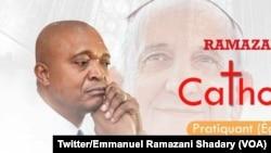 Une affiche de campagne du candidat du pouvoir, l'ex-ministre de l'Intérieur Emmanuel Ramazani Shadary, Kinshasa, RDC, 28 septembre 2018. (Twittre/ Emmanuel Ramazani Shadary)