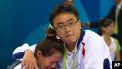 台灣跆拳道選手楊淑君被取消參賽資格後失望痛哭