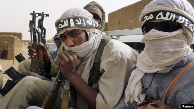 Chiến binh của nhóm nổi dậy Ansar Dine tại đông bắc Mali.