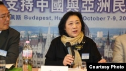 Gao Yu saat menjadi pembicara di Budapest, Oktober 2012 (Foto: dok).