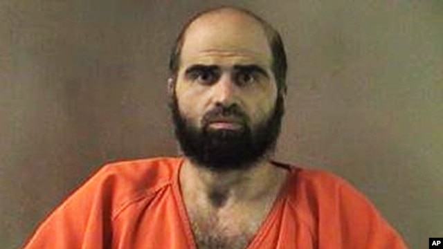 Undated file photo provided by the Bell County Sheriff's Department shows Nidal Hasan, the Army psychiatrist charged in the deadly 2009 Fort Hood shooting rampage.