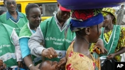 Community leaders, health workers, Muslim clerics, and victims work to vaccinate Nigerians against polio.