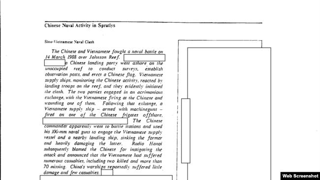 Tài liệu giải mật của CIA về trận Gạc Ma 1988
