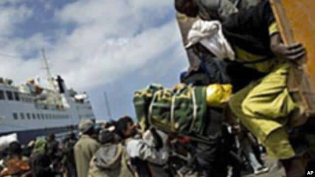 Des centaines d'immigrés tentent de traverser Misrata