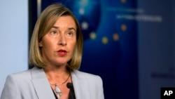歐盟外交政策主管莫蓋里尼1月11日週四在布魯塞爾會晤了英國、法國、德國和伊朗外長。