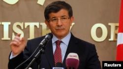 FILE - Turkey's Foreign Minister Ahmet Davutoglu.