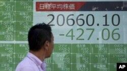 Показатели японского ключевого индекса Nikkei. Токио. 5 июля 2019 г.
