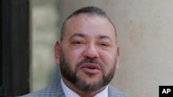 Le roi du Maroc, Mohammed VI à Paris, France, 2 mai 2017.