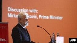 Premijer Cvetković govori na okruglom stolu u Beogradu