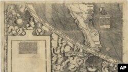 Detalj mape iz 1507. godine na kojoj je po prvi put upisan naziv America.