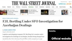 "The Wall Street Journal""-da məqalə"