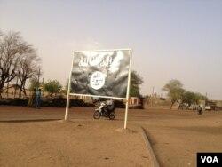 Drapeau d'un groupe rebelle à Gao, dans le nord du Mali