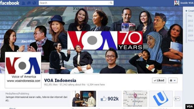 VOA Indonesia's Facebook Page