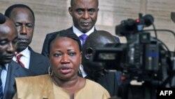 Fatou Bensouda était attendu jeudi à Kampala après son séjour en République centrafricaine (AFP)