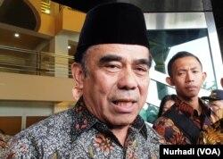 Menteri Agama Fachrul Razi. (Foto: VOA/ Nurhadi)