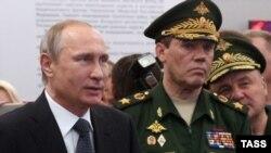 Генерал Валерій Герасимов з Володимиром Путіним