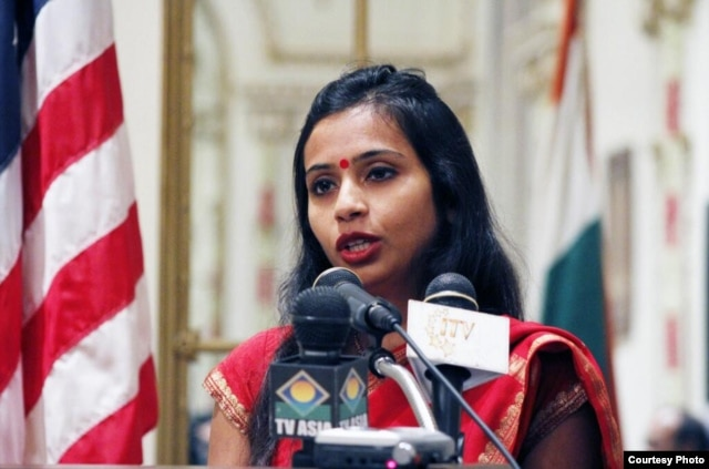 Indian diplomat Devyani Khobragade in an undated picture from her Twitter account.
